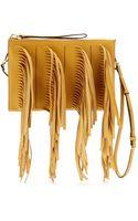 Marni Fringed Leather Clutch - Lyst