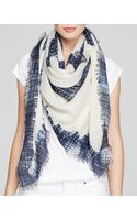 Tory Burch Painted Hash Print Square Scarf - Lyst