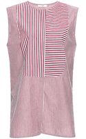 TOME Plum Sleeveless Striped Shirt - Lyst