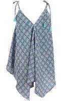 Basta Surf Sleeveless Double Vneck Asymmetrical Dress - Lyst