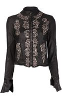 Le Cuir Perdu Sequin Embroidered Jacket - Lyst