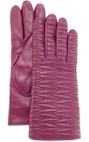 Portolano Woventopstitched Leather Gloves - Lyst
