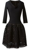 Azzedine Alaïa Black Stretch Knitwear Dress - Lyst