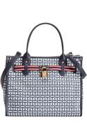 Tommy Hilfiger Coated Canvas Th Heritage Lock Shopper - Lyst