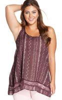 American Rag Plus Size Sleeveless Floral Print Top - Lyst
