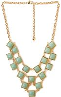 Forever 21 Geo Bib Necklace - Lyst