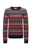Jaeger Fair Isle Sweater - Lyst