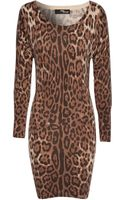 Jane Norman Angora Leopard Print Jumper Dress - Lyst