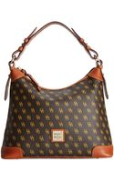 Dooney & Bourke Gretta Signature Hobo - Lyst