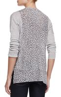 Rebecca Taylor Leopardprint Linencotton Combo Sweater - Lyst