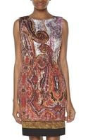 Rachel Roy Sleeveless Paisley Print Scoop Neck Dress - Lyst