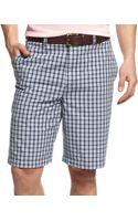 Geoffrey Beene Small Plaid Shorts - Lyst