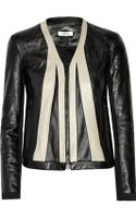 Helmut Lang Twotone Leather Jacket - Lyst
