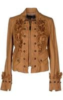 Just Cavalli Leather Outerwear - Lyst