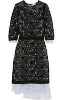 Michael Van Der Ham Silk Organzatrimmed Macramé Lace Dress - Lyst