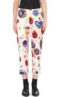 Yohji Yamamoto Jewel-print Tapered Wool Trousers - Lyst