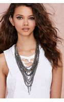 Nasty Gal All Mixed Up Metallic Necklace - Lyst