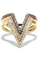 Vince Camuto Three Piece Pave V Ring - Lyst