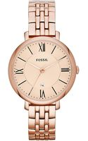 Fossil Ladies Stainless Steel Jacqueline Watch - Lyst
