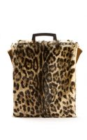Givenchy Rave Shoulder Bag in Leopard-printed Raccoon Fur - Lyst