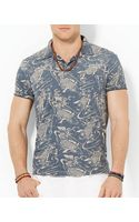 Ralph Lauren Polo Custom Fish Print Polo Shirt Slim Fit - Lyst