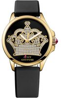 Juicy Couture Womens Jetsetter Black Silicone Strap Watch 38mm - Lyst