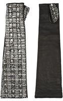 Dolce & Gabbana Embellished Leather Fingerless Gloves - Lyst