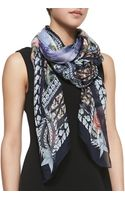 Givenchy Paradise Flowers Silk Scarf Lilac - Lyst