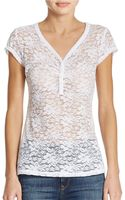 Guess Cap Sleeve Lace Top - Lyst