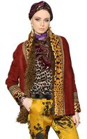 Etro Embroidered Shearling Jacket - Lyst