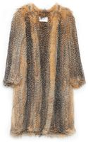 Yves Salomon Knitted Fox Jacket - Lyst