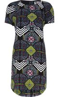 River Island Black Chelsea Girl Print Shift Dress - Lyst