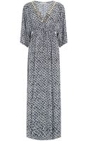 Michael by Michael Kors Wax Print Maxi Dress - Lyst