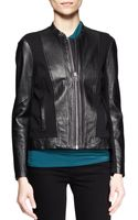 Helmut Lang Washed Leather Combo Jacket - Lyst