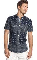 Tommy Hilfiger Dean Pieced Bandana Customfit Shirt - Lyst