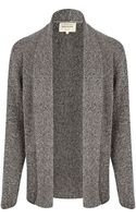 River Island Dark Grey Twist Unfastened Cardigan - Lyst