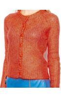 Le Mont St Michel Wool Mix Cardigan with Button Front - Lyst