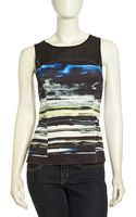 Sachin & Babi Illusion Paneled Graphic Print Tank - Lyst