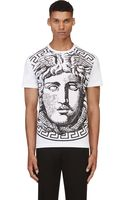 Versace White and Black Big Medusa T_shirt - Lyst