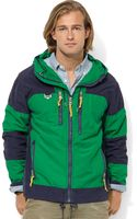 Ralph Lauren Hooded Colorblocked Jacket - Lyst