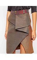 Three Floor Twist Skirt - Lyst