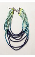 Anthropologie Ombre Beaded Necklace - Lyst