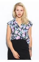 Glassworks Washed Floral Sleeveless Shirt - Lyst