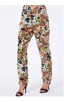 Missguided Jacquelyn Tailored Trousers in Neon Floral Print - Lyst
