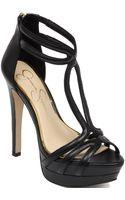 Jessica Simpson Salvati Tstrap Platform Sandals - Lyst