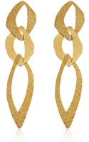 Herve Van Der Straeten Goldplated Cut Out Tiered Earrings - Lyst