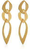 Herve Van Der Straeten Goldplated Cut Out Tiered Earrings - Lyst