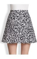 Theory Lonati Pescara Printed Cotton Skirt - Lyst