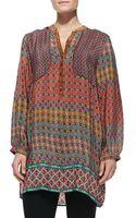 Tolani Priscilla Circle-print Silk Tunic - Lyst