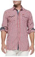 Diesel Check Shirt W Contrast Placket  Cuffs - Lyst